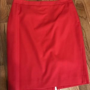 J crew no. 2 pencil skirt red/orange color size 6